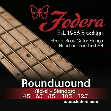 FODERA Bajo Eléctrico 5 Cuerdas NICKEL MEDIUM 45-125