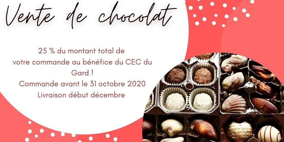 Vente de chocolats pour les fêtes de fin d'année