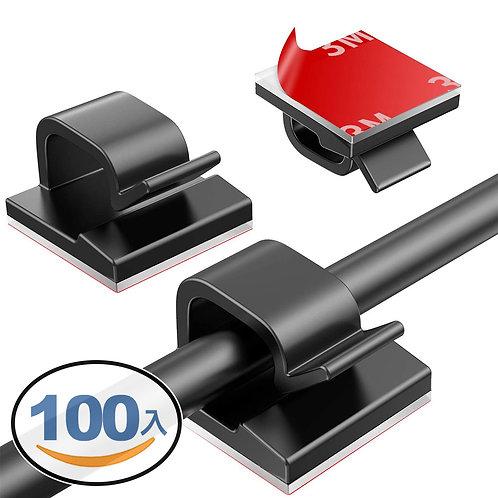 3M黏貼式整線器 100入 理線器 電線收納 線材整理