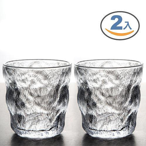 冰川紋玻璃杯 300mL-二入組 咖啡杯 酒杯