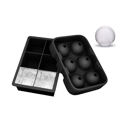 6格大冰塊+圓冰球製冰盒套裝