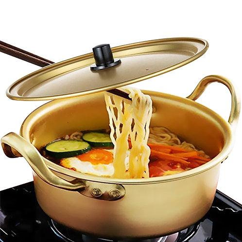 16cm韓式黃金鋁泡麵碗 部隊鍋 拉麵碗 小火鍋