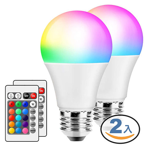 可遙控調色調光LED智慧燈泡10W-2入組 智慧照明 全彩燈泡 氣氛燈 小夜燈