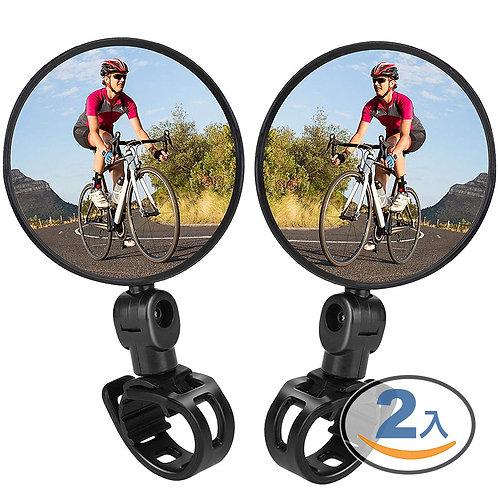 玻璃自行車後照鏡 (兩入組) (公路車 單車 腳踏車後視鏡)