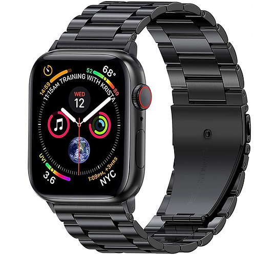 42/44mm Apple Watch 不鏽鋼金屬錶帶 黑色