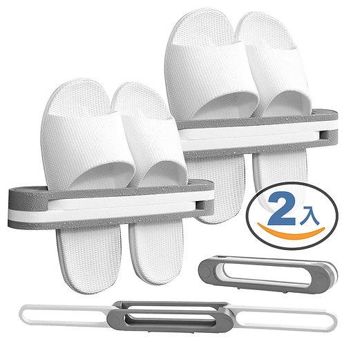 1變3無痕壁掛拖鞋架 2入-6雙鞋 居家收納 廚房衛浴 層架 毛巾架