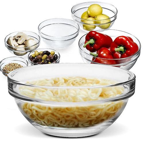 加厚玻璃泡麵碗 20cm 沙拉碗 湯碗