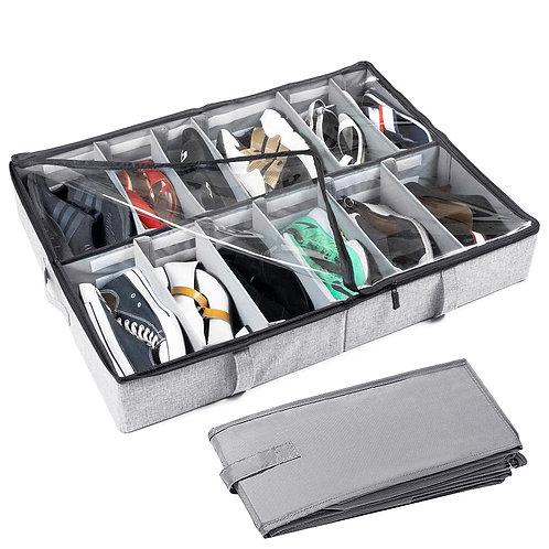 牛津布床底收納鞋盒 12格