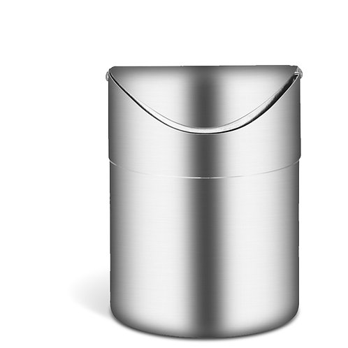 不鏽鋼桌面垃圾桶 1.5L 小垃圾桶 桌面收納 車用垃圾桶