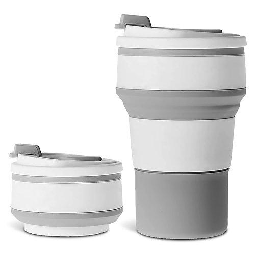 旅行用耐熱矽膠折疊杯 伸縮杯 環保杯 矽膠杯