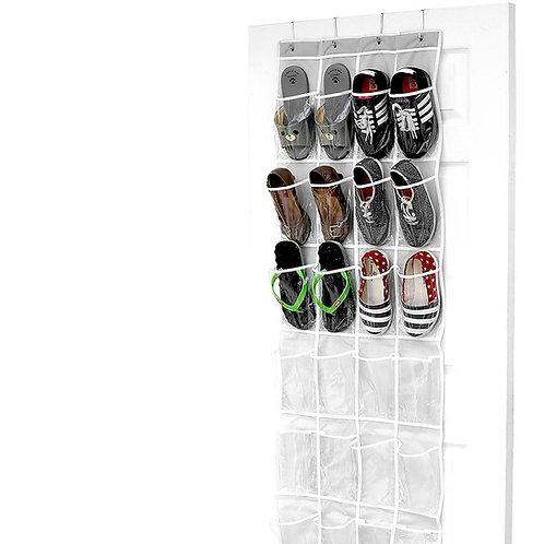 多功能門後拖鞋收納掛袋 室內拖鞋收納 置物袋