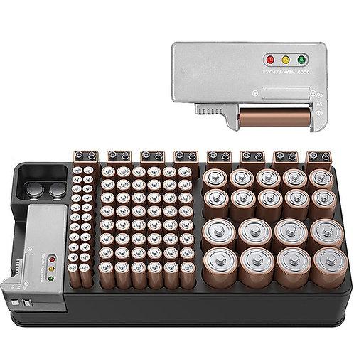 98顆電池盒 含測電器 電池收納包