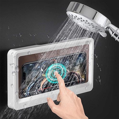 牆面防水手機支架 無痕貼 浴室手機架