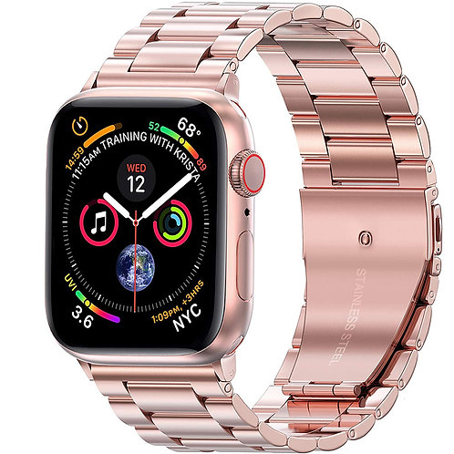 38/40mm Apple Watch 不鏽鋼金屬錶帶 玫瑰金