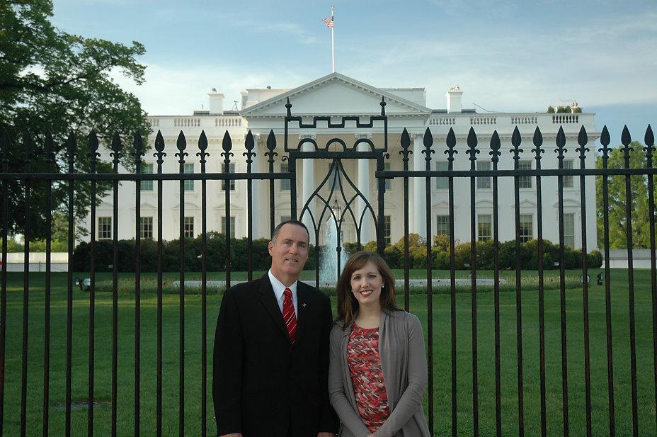 Julie Griffin visit - with JI at WH hi r