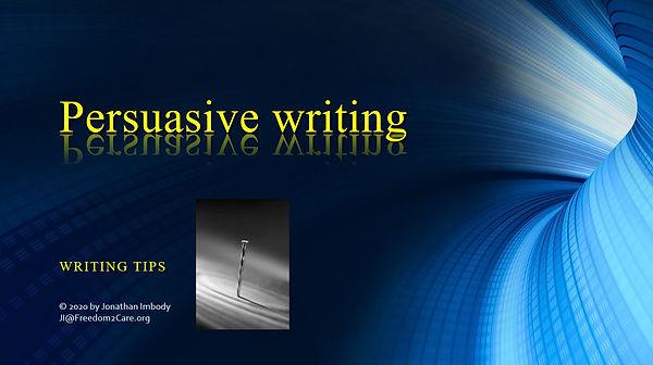 Persuasive Writing PowerPoint - Writing
