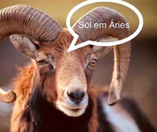 Sol entra em Áries