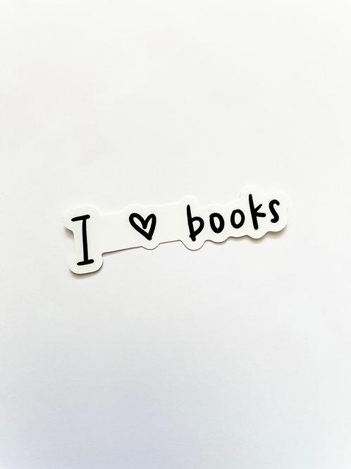I <3 Books Sticker