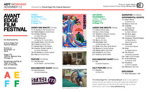 Announcing the Avant Edge Film Festival Lineup!