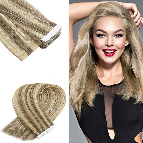 traight Skin Weft Adhesive Hair None Remy Tape in Human Hair Extensions