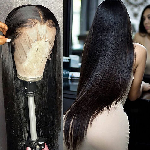 28 ,30, 40 Inch Brazilian Glueless Frontal 13x4 Lace Front  Pre Plucked