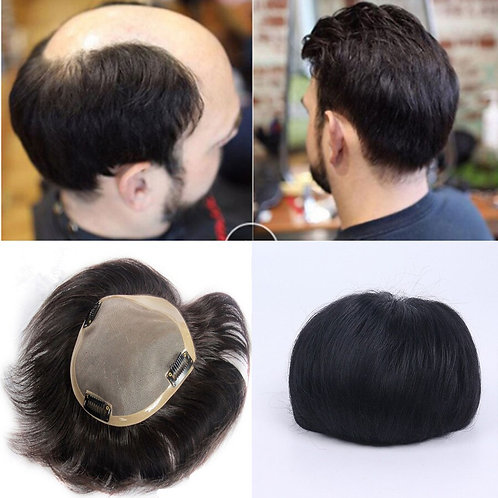 Swiss Lace Front With Skin Hollywood Men Toupee