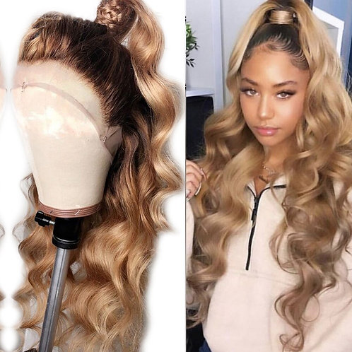 Blonde Body Wave Full Lace Wig with  Baby Hair