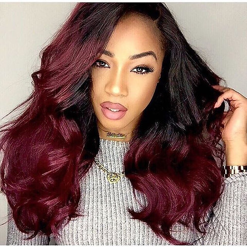 Ombre Burgundy Hair Bundles