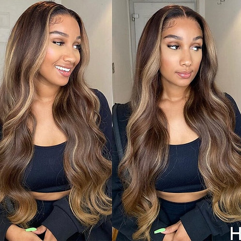 8''-24'' Brazilian  Hair Wig With Baby Hair 180% Density
