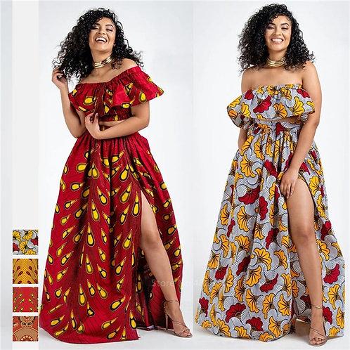 Dashiki Print Top Skirts Fashion