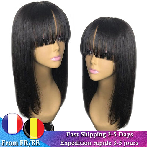 Wig with bangs 10-16Inch