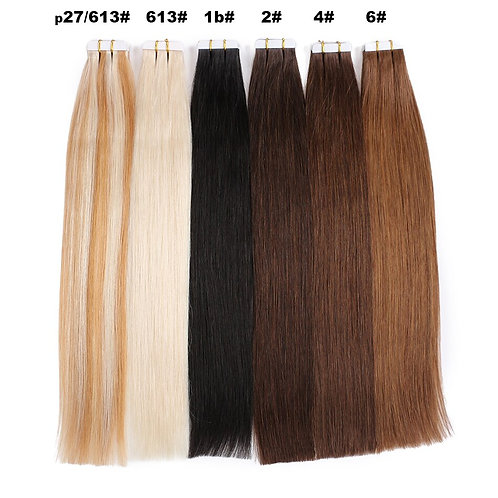 Tape in Human Hair Extensions 20pcs  Remy European Straight