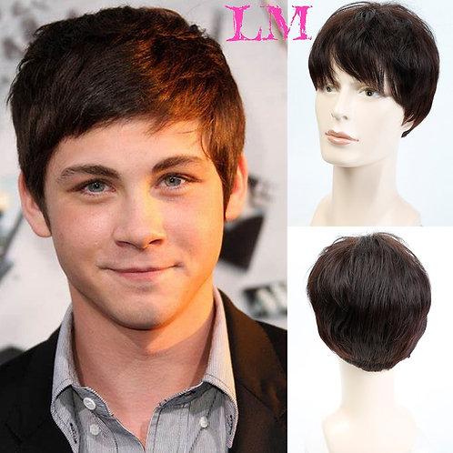 Wig Dark Brown Natural Short Straight  Full Wigs