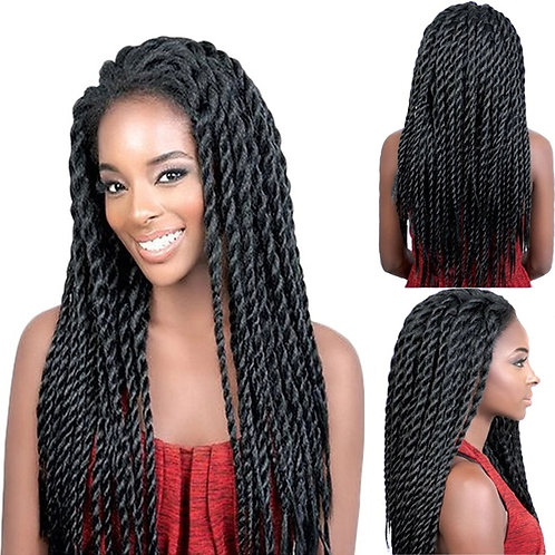Lace Front Afro Twist Braided Wigs