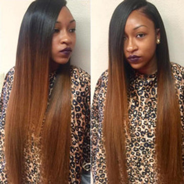 Ombre Lace Front two tone wig