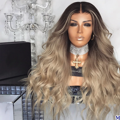 Ombre Light Blonde Human Hair Pre -plucked Hair