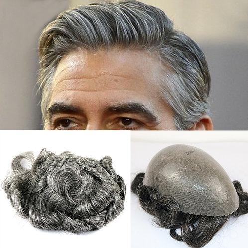 Long Lasting High Quality Skin Toupee Human Hair 8 X 10 European Hair Touch