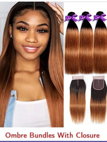 Ombre brown bundles 18 inches