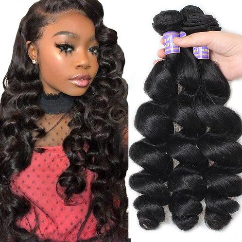 Non-Remy Hair Loose Wave Human Hair 3 Bundles