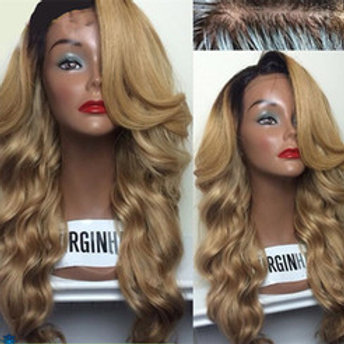 Ombre Peruvian Full Lace Wig Body Wave