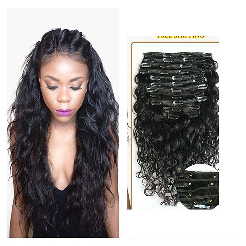 10 Pieces/Set Clip In Human Hair Extensions