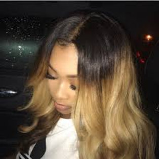 Two tone ombre wig