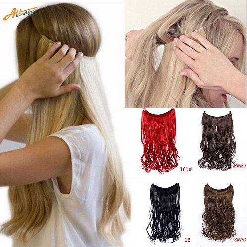 """24"""" Invisible Wire No Clips in Hair Extensions"""