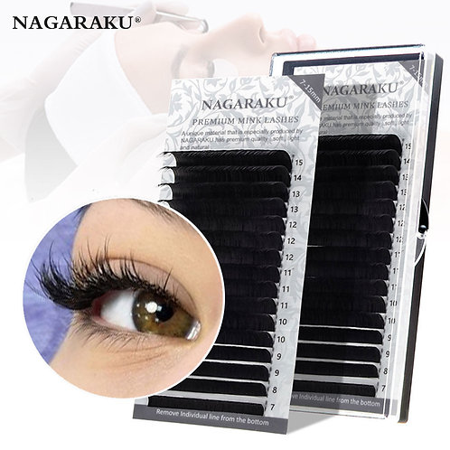 16rows/Case 7~15mm Mix Premium Natural Synthetic Mink Individual Eyelashes