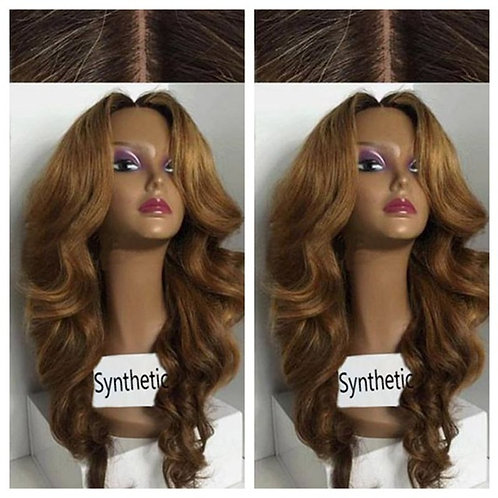 Synthetic Two tone ombre wig