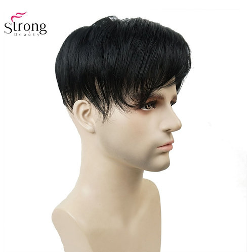 Toupee Men Wig Short Straight Hair
