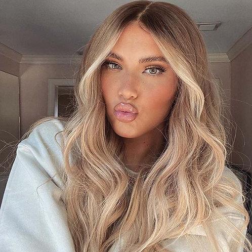 Highlight Blonde Bob Transparent Silk Top Lace Front