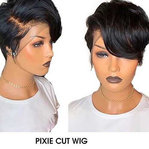 Pixie Cut Wig Lace Front Human Hair Wigs 150%
