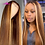 Thumbnail: #4/30 Highlight Colored Human Hair Wigs Pre Plucked Ombre
