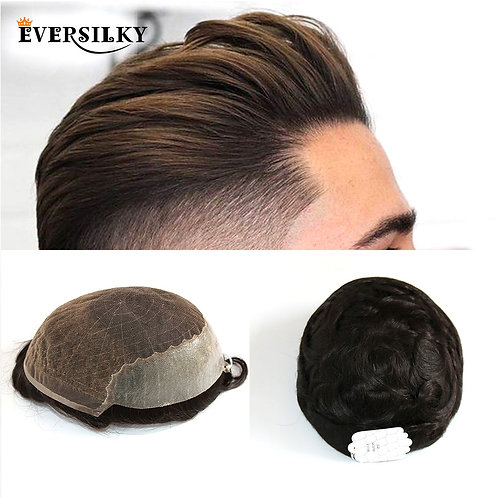 Thin PU Replacement System for Men Toupees